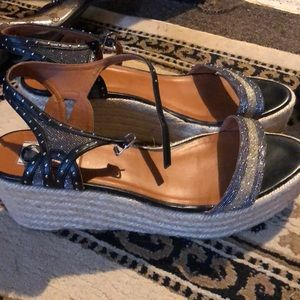 Lanvin wedge heels. Excellent used condition.
